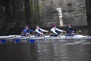 Durham ARC senior women\'s 4x- (Beth Holmes, Rachael O\'Connor, Alison Danforth, Taya Parker)