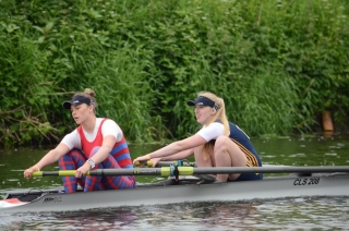 Lauren Irwin and Hope Cessford at Durham Regatta in 2016