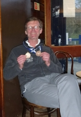 Vaughan with medals