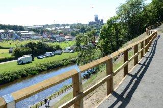 Riverside footpaths