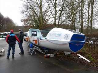Team Tyne Innovation boat for the Talisker Whiskey Atlantic Challenge