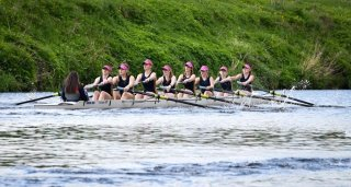 J15 girls 8+in Novice 8+ at Durham City