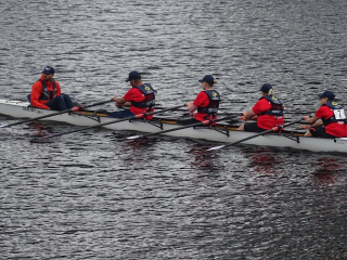 Oarsome 4some at the quayside
