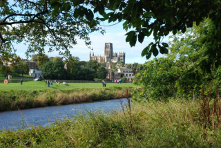 Durham Cathedral viewed from Pelaw Wood