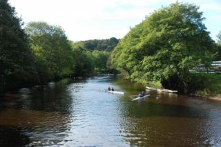Upstream of Durham ARC Boathouse