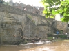 Elvet bridge blocked by flood debris