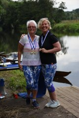 Debbie and Shirley win the women\'s 50+ 2x