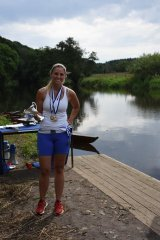 Lee Fenton wins the women\'s single sculls sprint