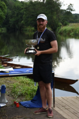 Jamie McCarron wins the single sculls sprint