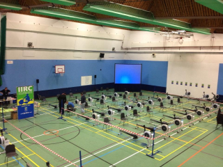 Indoor rowing setup