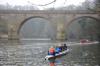 Recreational rowing near prebends bridge 2013