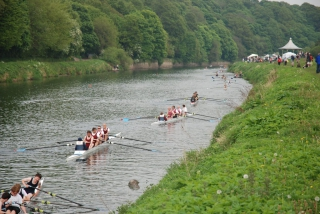 Waiting for the next race at Durham City Regatta