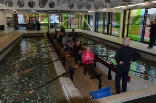 Using the rowing tank at Maiden Castle