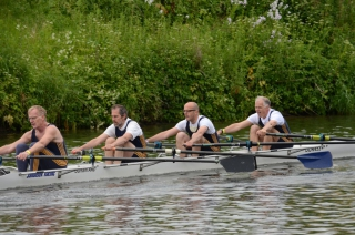Masters D 4x- at Durham Regatta 2015